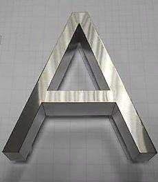 объемные буквы, выполняемые из нержавеющей стали